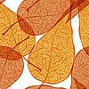 Vektor Cliparts: Hintergrund mit Herbstlaub