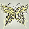 schöner Schmetterling im Vintage-Stil