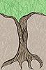 Дуба ствол дерева вверху | Векторный клипарт