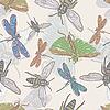 ID 3044932 | Nahtloser Hintergrund mit Insekten | Stock Vektorgrafik | CLIPARTO
