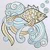 Fisch auf den Wellen