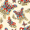 Nahtloser Hintergrund mit Schmetterlingen | Stock Vektrografik