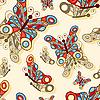 Bez szwu tła z Motyle | Stock Vector Graphics