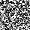 Nahtloser monochromer Blumenhintergrund | Stock Vektrografik