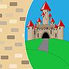 mittelalterliche Burg cartoon