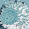 Vektor Cliparts: Hintergrund mit Blume mit Blütenblättern geblasen