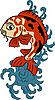 japanisches Muster mit Koi-Fisch (Karpfen)
