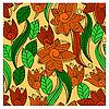 Vektor Cliparts: Hintergrund mit abstrakten Blumen