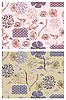 japanischen Stil nahtlose Frühjahr florale Muster