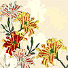 Vektor Cliparts: Hintergrund mit hellen Blumen