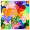 Nahtlose Hintergrund mit leuchtenden Herzen | Stock Vektrografik