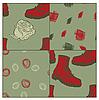 nahtlose Grunge Hintergrund mit Stiefeln und Rosen