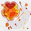 Muster mit Herzen und abstrakten Klecksen | Stock Vektrografik