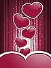 rote Herze und Streifen