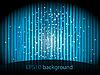 Vektor Cliparts: Hintergrund mit blauen Streifen und kleine Sterne