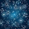 Bezszwowe tło zima z płatków śniegu | Stock Vector Graphics