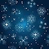 nahtloser Winterhintergrund mit Schneeflocken