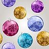 nahtloses Muster mit glänzenden Weihnachtskugeln