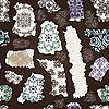 Vektor Cliparts: nahtlose vintage Muster mit zerrissenen floralen Mustern