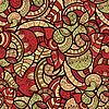nahtloses helles florales Gekritzel-Muster