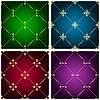 Vektor Cliparts: Reihe von vintage nahtlose Muster