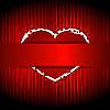 rotes Herz hinter dem Farbband