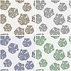 ID 3126517 | Nahtlose Muster mit abstrakten Blumen | Stock Vektorgrafik | CLIPARTO