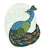 Pfau im chinesischen Stil