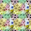 nahtloses Retro-Muster von kleinen Textil-Stücken