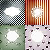 Set von Spitzen-Servietten auf Retro-Mustern