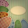 Osterkarte mit Eiern und Spitzen-Serviette