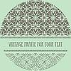 Vintage-Muster mit Rahmen für Ihren Text