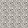 seamless floral Monochrom-Muster mit bizarren Blüten