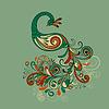 стилизованный павлиний хвост с подробным. стилизованный павлиний хвост с...
