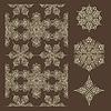 Nahtlose Winter-Muster und Schneeflocken-Design