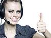 ID 3047594 | 헤드셋과 매력적인 젊은 여자 | 높은 해상도 사진 | CLIPARTO