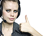 ID 3047596 | Smiling attractive young women with headset | Foto stockowe wysokiej rozdzielczości | KLIPARTO