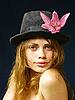 ID 3051527 | Girl in hat with flower | Foto stockowe wysokiej rozdzielczości | KLIPARTO
