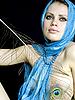 ID 3054234 | Женщина в платке с павлиньим пером | Фото большого размера | CLIPARTO