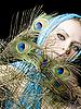 ID 3054238 | 공작 깃털을 가진 아름 다운 여자 | 높은 해상도 사진 | CLIPARTO