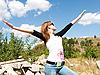 ID 3058033 | Mädchen mit Händen nach oben | Foto mit hoher Auflösung | CLIPARTO