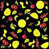 Hintergrund von Früchten und Beeren