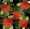 花卉背景的玫瑰 | 向量插图