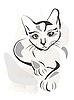 ID 3045944 | Schwarze Katze | Stock Vektorgrafik | CLIPARTO