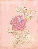 Vintage-Karte mit roten Rose
