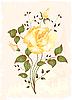 Vintage-Grußkarte mit Rose