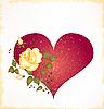 ID 3050304 | Vintage-Grußkarte mit Rose | Stock Vektorgrafik | CLIPARTO