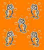 Pattern with funny kittens | Stock Vector Graphics