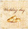 alte Hochzeitskarte