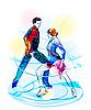 Eiskunstlauf | Stock Vektrografik